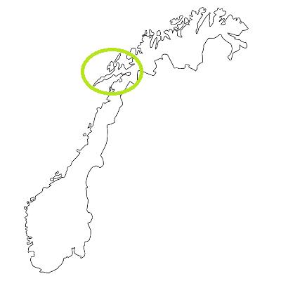 Lage der Lofoten in Norwegen