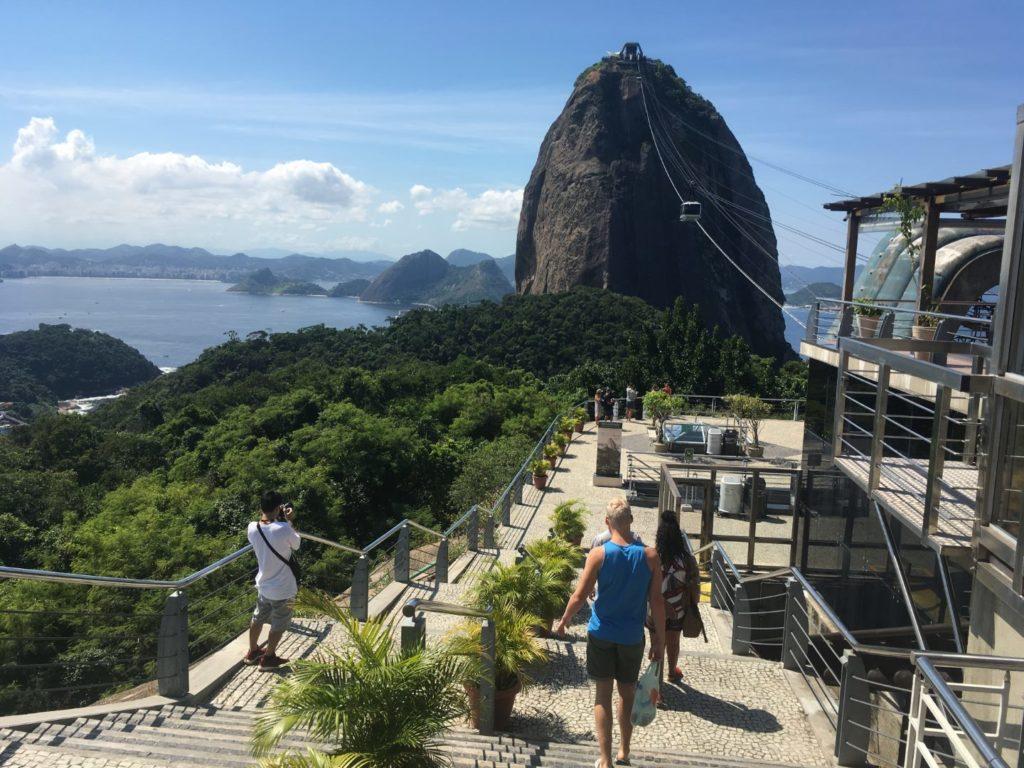 Auf dem Zuckerhut auf Rio de Janeiro